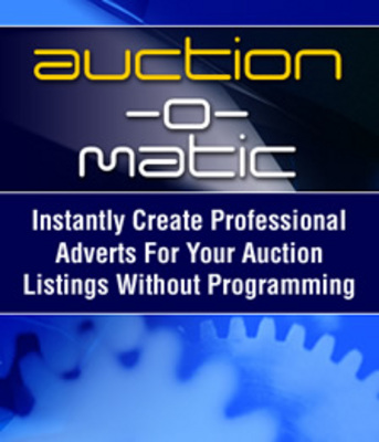 Product picture Auction O matic - E-bay Template Software & More!
